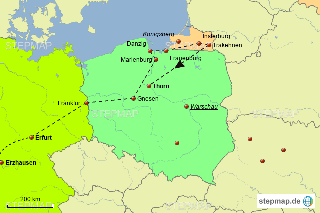 Karte Ostpreußen.Stepmap Ostpreußen Trakehnen Landkarte Für Europa