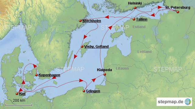 Karte Ostsee Deutschland.Stepmap Ostsee 2017 Landkarte Für Deutschland