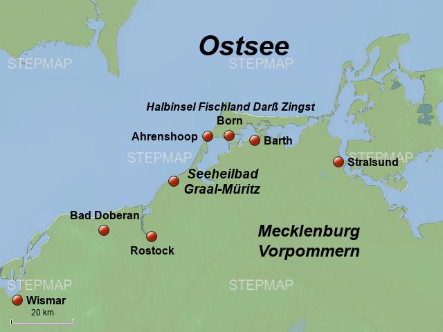 graal müritz karte StepMap   Ostsee Graal Müritz   Landkarte für Deutschland