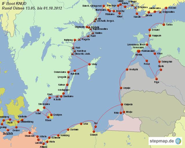 Karte Ostsee.Stepmap Ostsee Runde Landkarte Für Deutschland