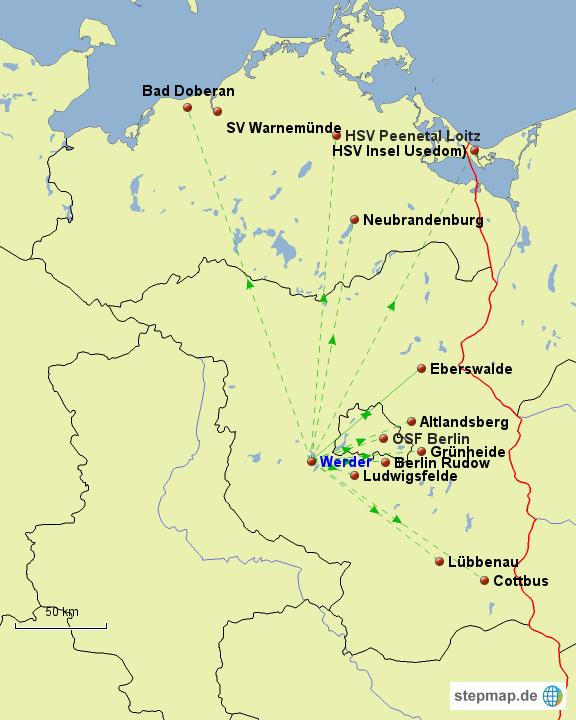 Spree Karte.Stepmap Ostsee Spree Liga Planung Landkarte Fur Deutschland