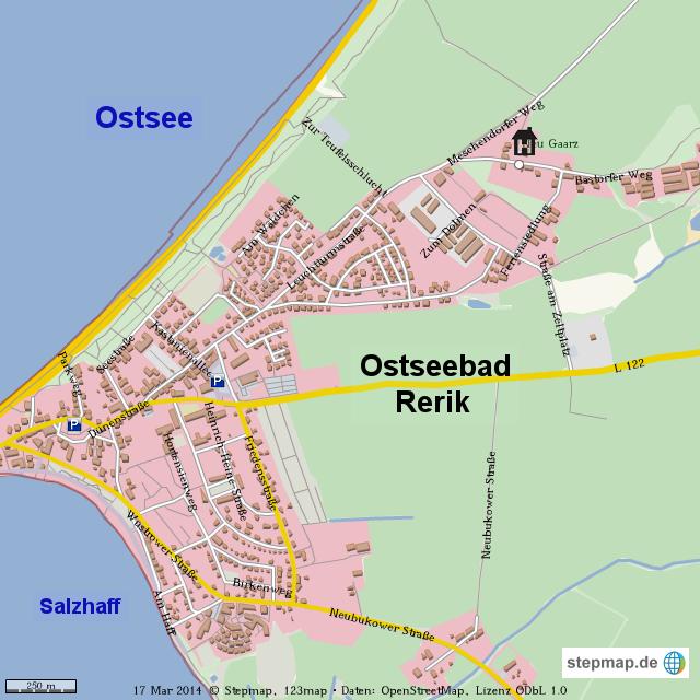 rerik karte StepMap   Ostseebad Rerik   Landkarte für Welt