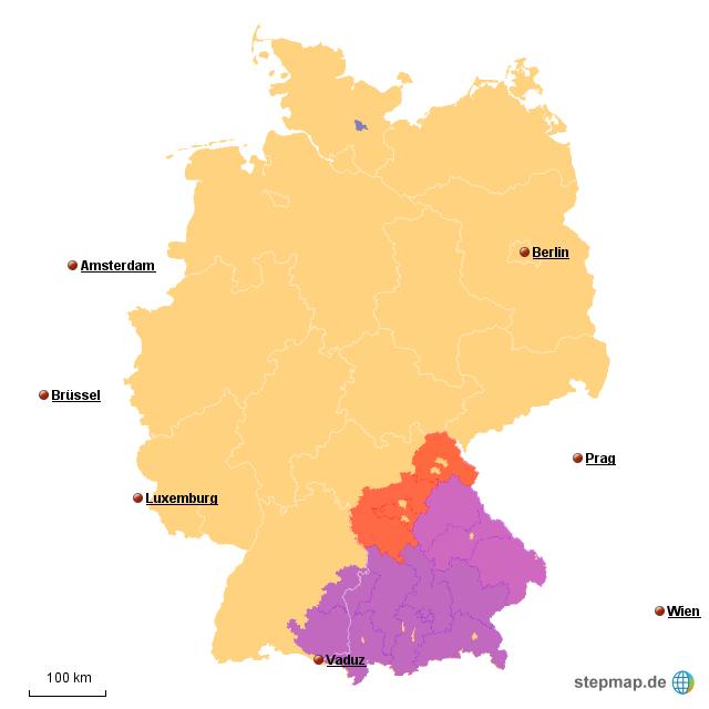 stepmap plz bayern landkarte f r deutschland. Black Bedroom Furniture Sets. Home Design Ideas