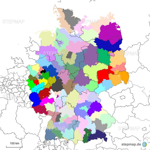 Karte Plz.Stepmap Plz Karte Landkarte Für Deutschland