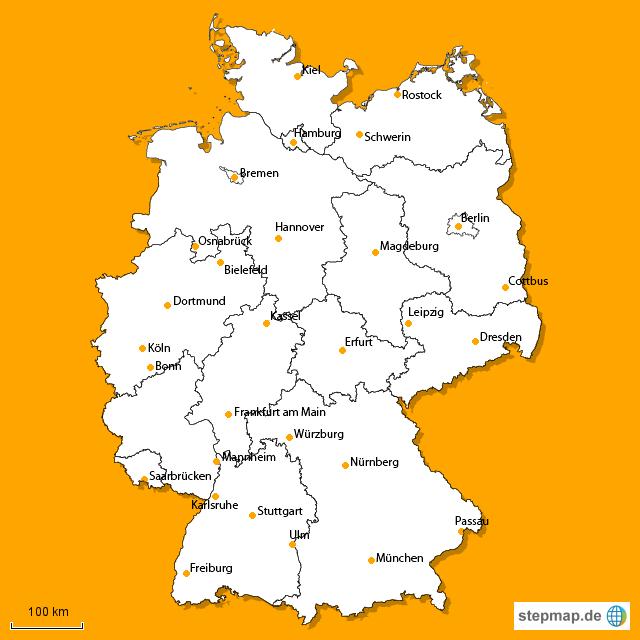stepmap plz karte de landkarte f r deutschland. Black Bedroom Furniture Sets. Home Design Ideas