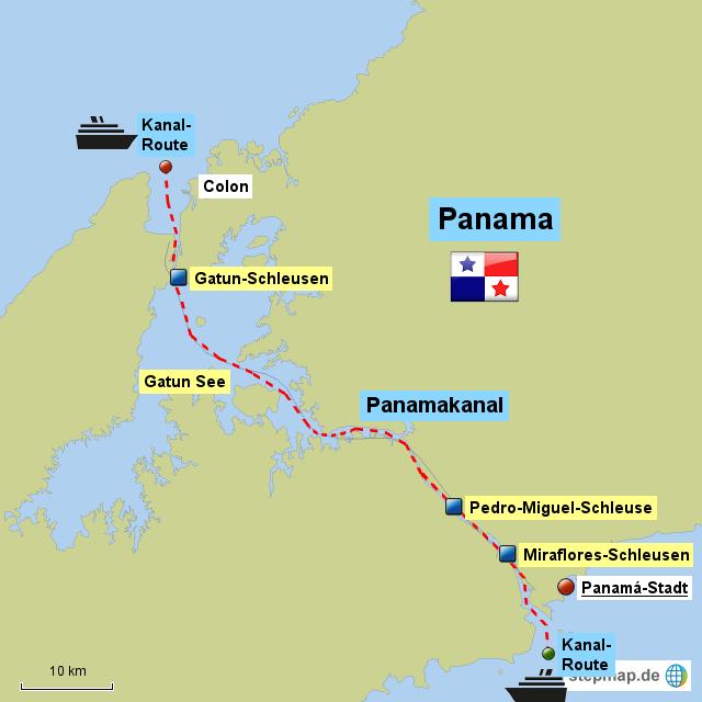 panamakanal karte StepMap   Panamakanal   Landkarte für Panama