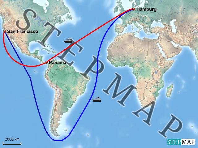panamakanal karte StepMap   Panamakanal   Landkarte für Welt