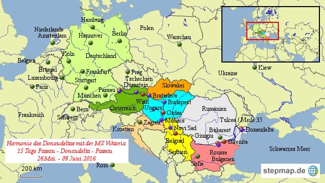 passau karte StepMap   Passau   Donaudelta   Passau   Landkarte für Europa