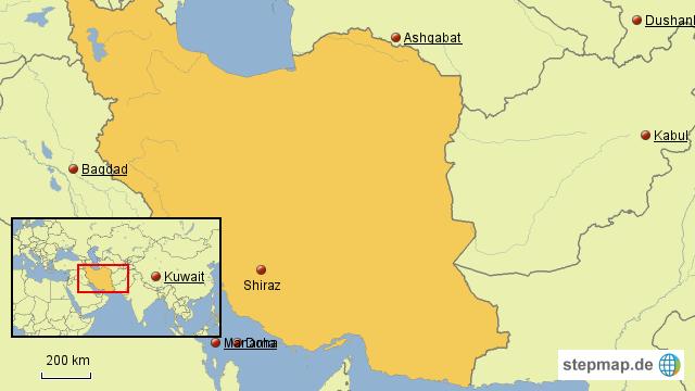 Persien Karte.Stepmap Persien Landkarte Für Asien