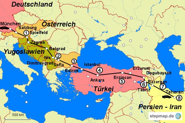 persien karte StepMap   Persien 1976   Landkarte für Deutschland