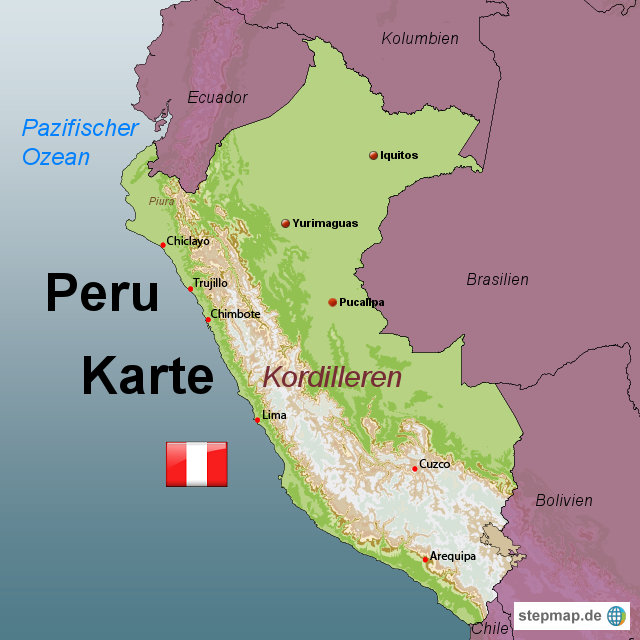 karte peru StepMap   Peru Karte   Landkarte für Peru karte peru