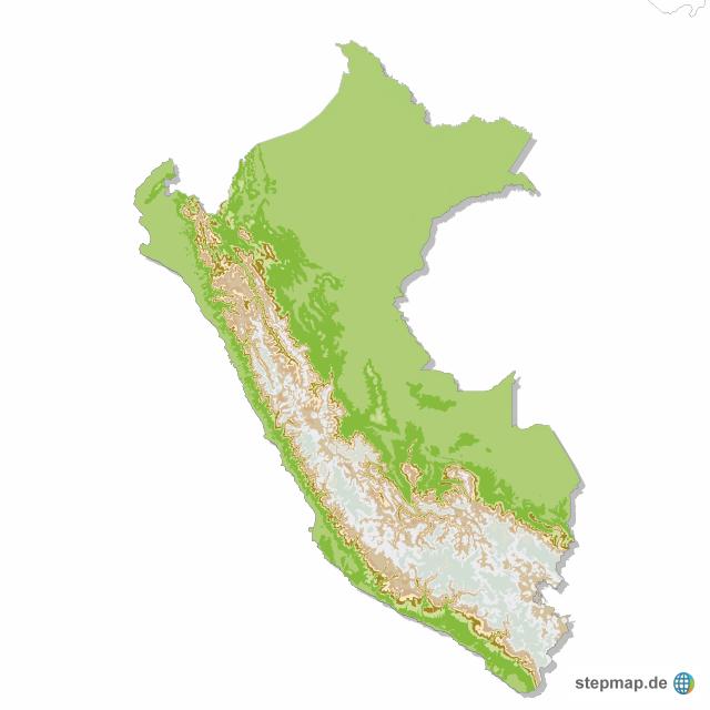 Peru Karte Umriss.Stepmap Peru Physisch Landkarte Fur Peru
