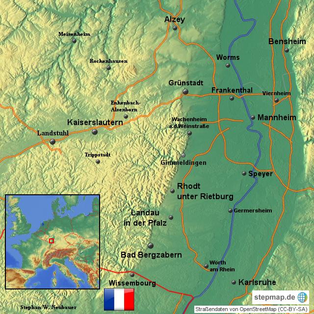 Pfalz Karte Deutschland