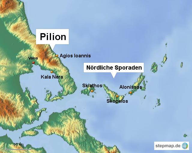 pilion karte griechenland StepMap   Pilion   Landkarte für Griechenland