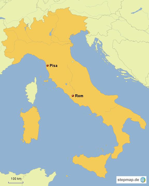 Pisa Karte.Stepmap Pisa Landkarte Für Deutschland