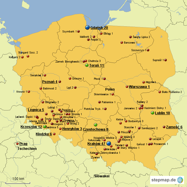 Stepmap Polen Landkarte Fur Polen