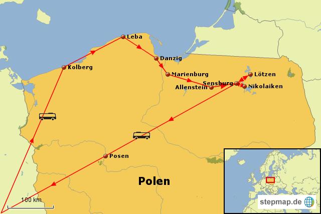 danzig karte StepMap   Polen, Danzig und Masuren   Landkarte für Polen