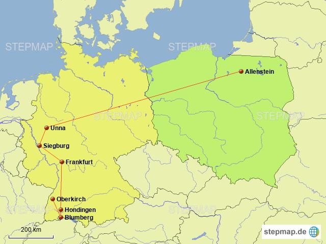 karte polen deutschland StepMap   Polen Deutschland   Landkarte für Deutschland