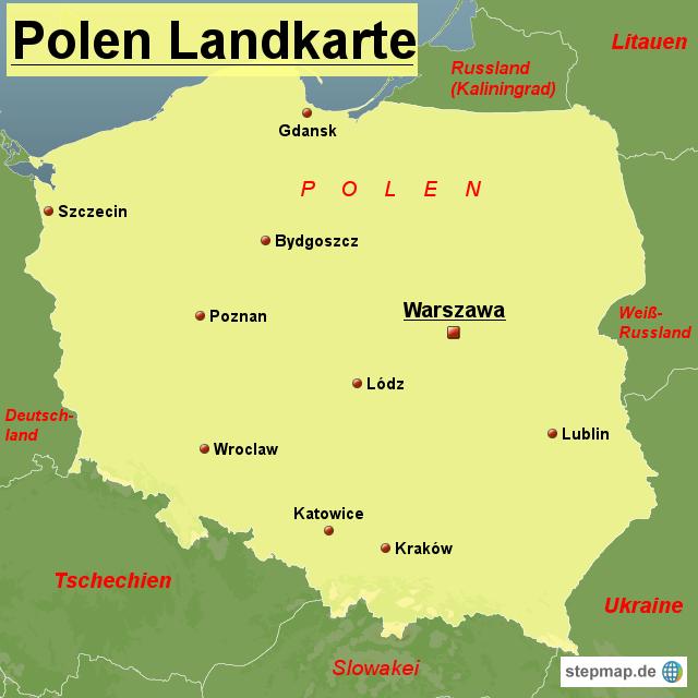 karte von polen StepMap   Polen Landkarte   Landkarte für Polen karte von polen