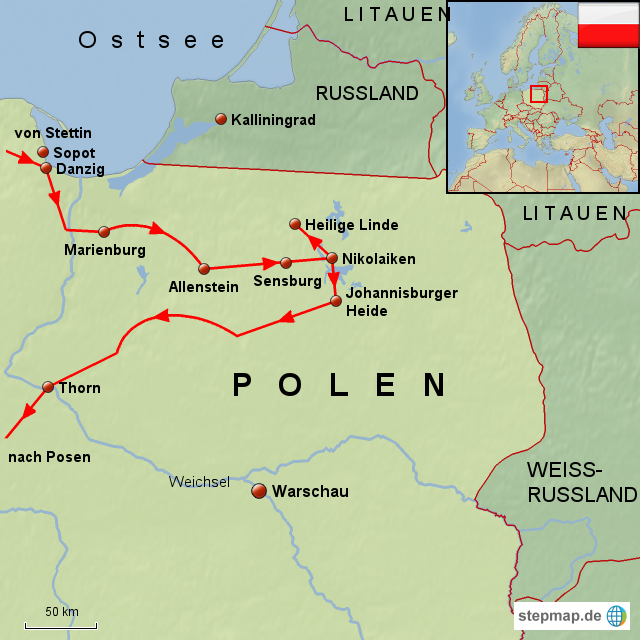 masuren landkarte StepMap   Polen Masuren   Landkarte für Polen masuren landkarte