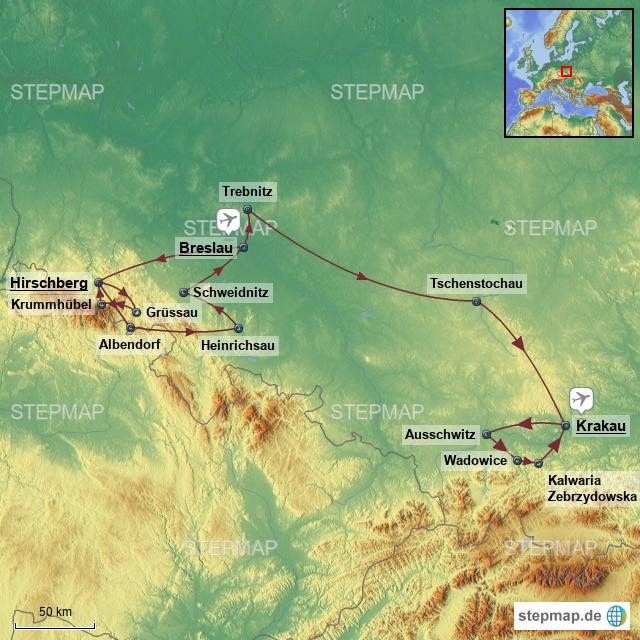 Polen Schlesien Karte.Stepmap Polen Schlesien Landkarte Für Polen