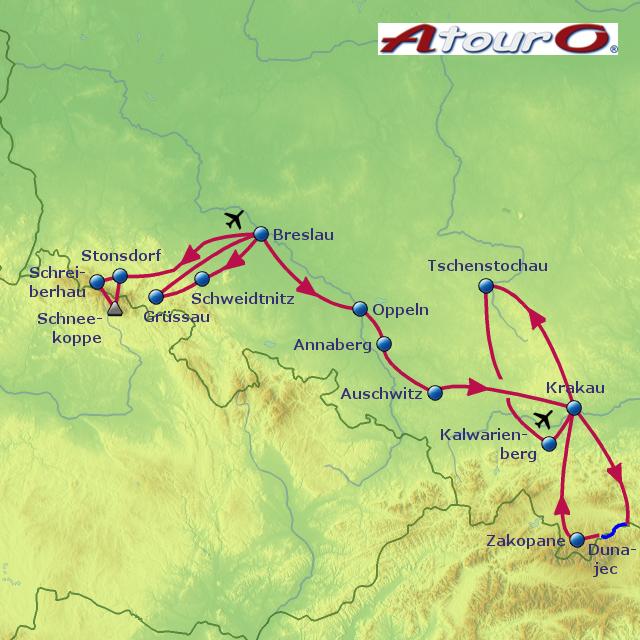 Polen Schlesien Karte.Stepmap Polen Schlesien Gruppenreise Landkarte Für Polen
