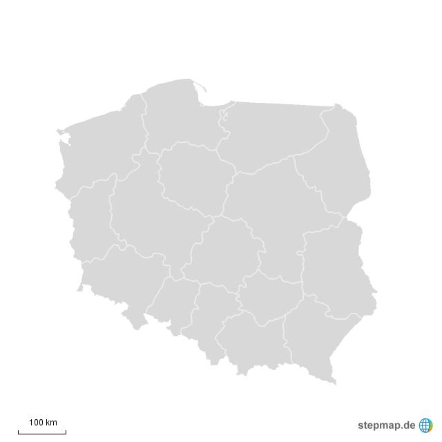 Polen Karte Umriss.Stepmap Polen Umrisse 1 Landkarte Fur Deutschland