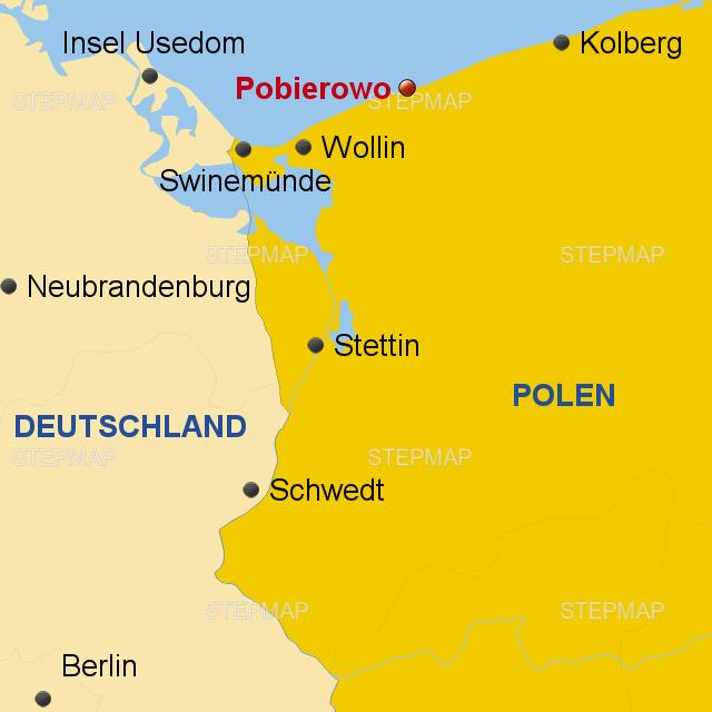 Karte Ostseeküste Polen.Stepmap Polnische Ostsee Landkarte Für Polen
