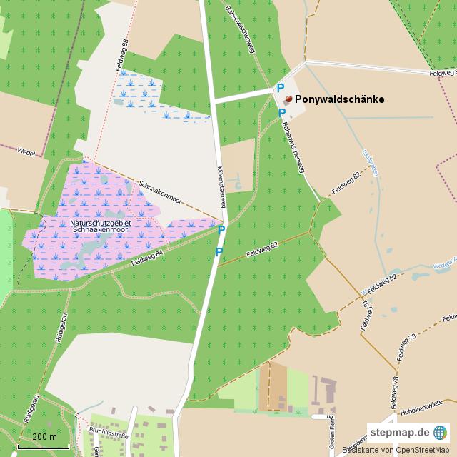 StepMap - Ponywaldschänke - Landkarte für Deutschland
