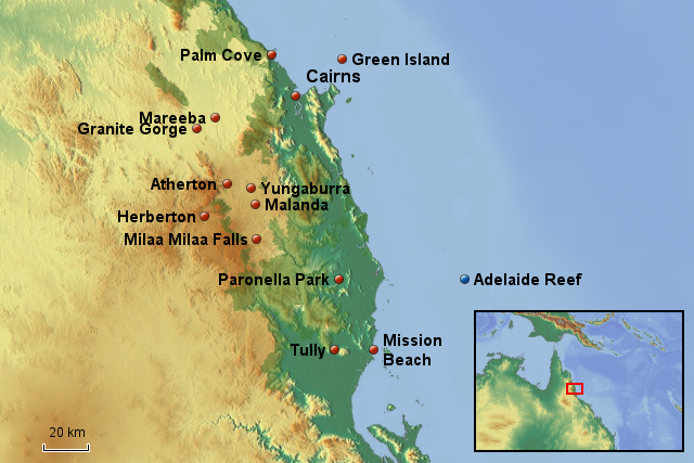 Karte Australien Und Umgebung.Stepmap Queensland Cairns Umgebung Landkarte Für Australien