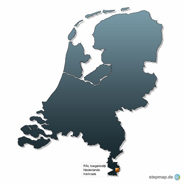 Ral Karte: Landkarte Für Die Niederlande