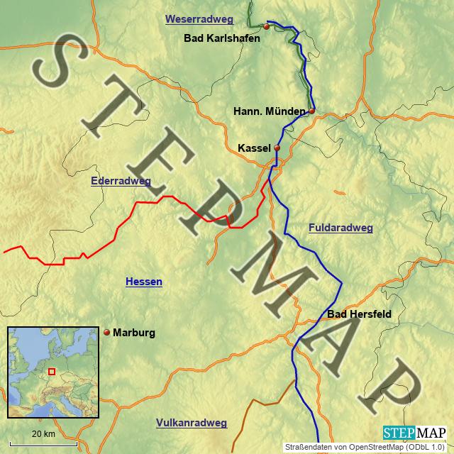 Radwege Nordhessen
