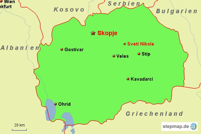 Mazedonien Karte.Stepmap Reise Deutschland Mazedonien Landkarte Für Mazedonien