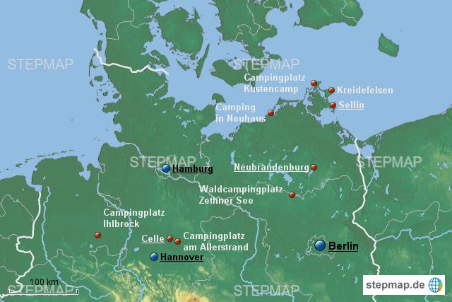 stepmap reise durch mecklenburg vorpommern 3 landkarte f r deutschland. Black Bedroom Furniture Sets. Home Design Ideas