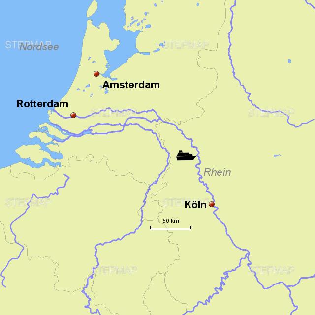 Karte Von Holland Landkarte Niederlande.Stepmap Rhein Holland Landkarte Für Niederlande