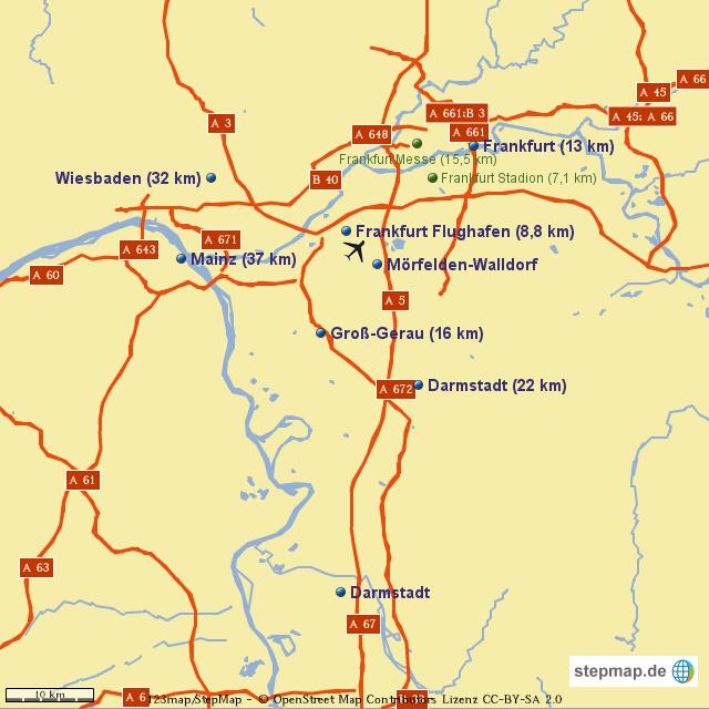 rhein main gebiet karte StepMap   Rhein Main Gebiet   Landkarte für Deutschland