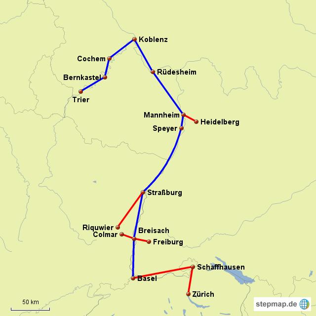 Stepmap Rhein Mosel Landkarte Fur Deutschland