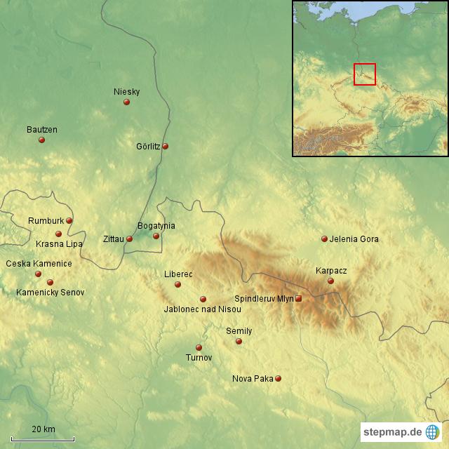 karte riesengebirge deutschland StepMap   Riesengebirge Spindler Mühle   Landkarte für Deutschland