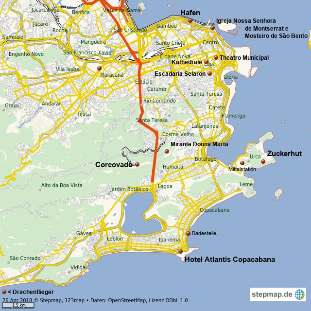 Rio De Janeiro Karte.Stepmap Rio De Janeiro Landkarte Fur Welt