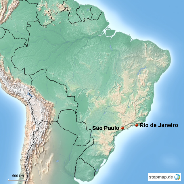 sao paulo karte Sao Paulo Karte   Karte