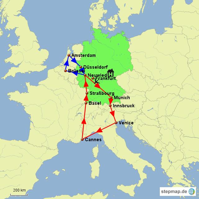 Stepmap Roadtrip Europe Landkarte Für Europa