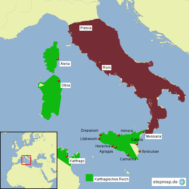 karthago karte StepMap   Rom und Karthago   Landkarte für Italien