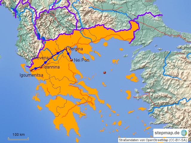 igoumenitsa griechenland karte StepMap   Route Igoumenitsa Nei Pori   Landkarte für Griechenland