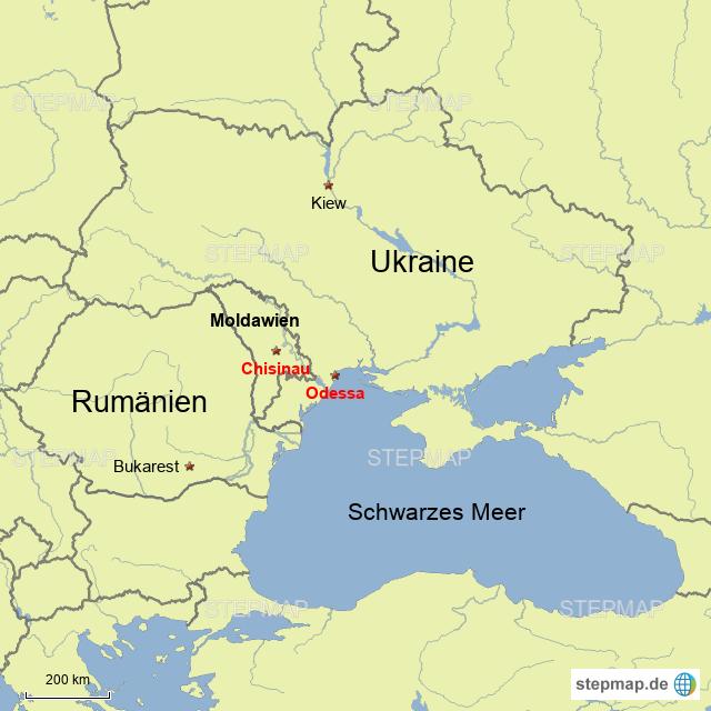Moldawien Karte.Stepmap Rumänien Moldawien Ukraine Landkarte Für Deutschland