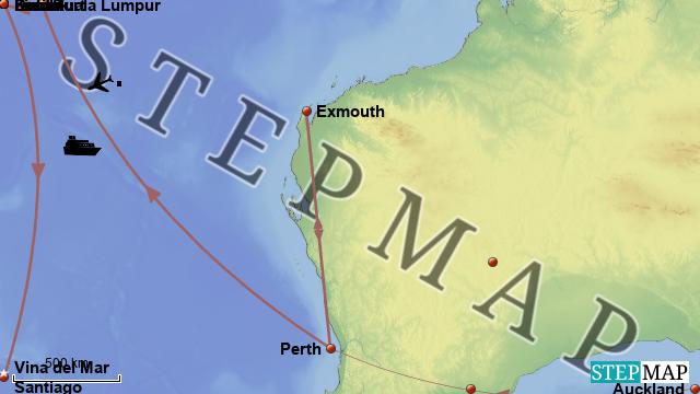 Erde Karte Rund.Stepmap Rund Um Die Erde Landkarte Für Welt