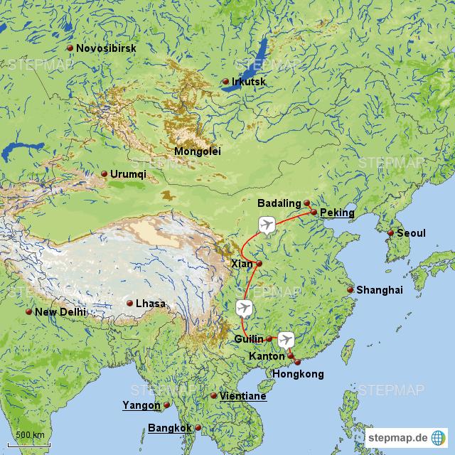 Karte China Hong Kong.Stepmap Rundreise China Hong Kong Landkarte Für China