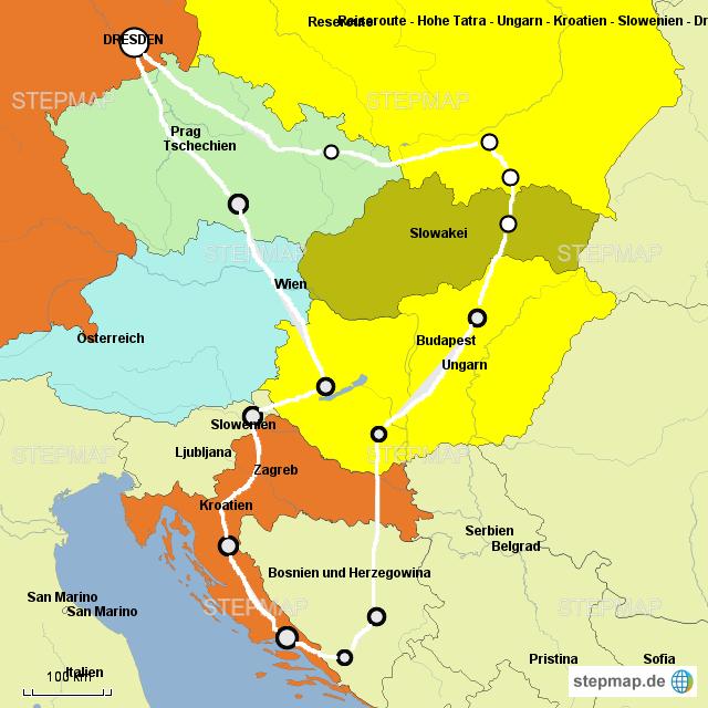 stepmap rundreise hohe tatra ungarn kroatien. Black Bedroom Furniture Sets. Home Design Ideas