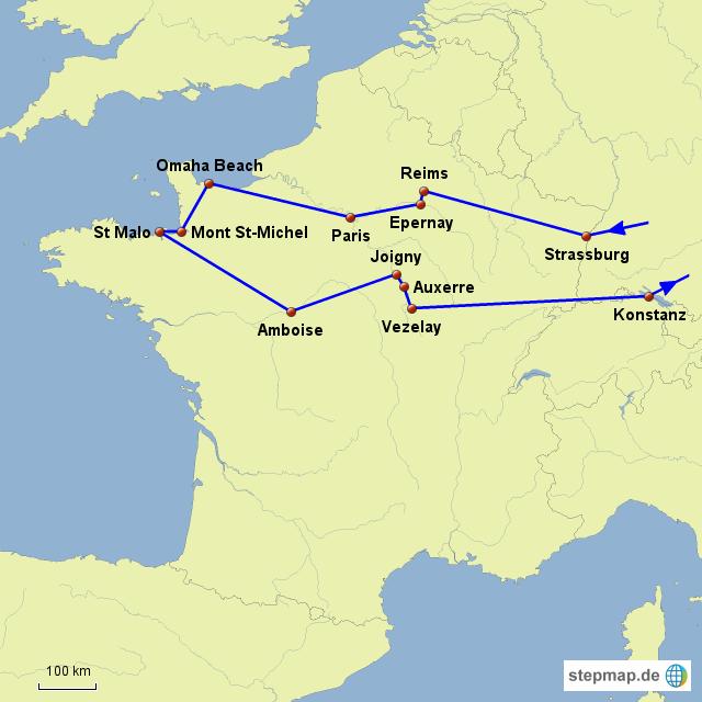 Nordfrankreich Karte.Stepmap Rundreise Nordfrankreich Landkarte Für Frankreich