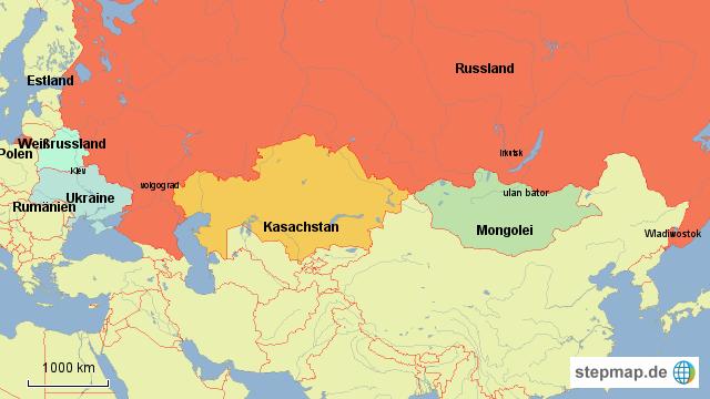 Karte Russland Asien.Stepmap Russland Asien Landkarte Fur Russland