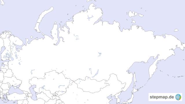 Karte Russland Asien.Stepmap Russland Stumme Karte Landkarte Für Asien